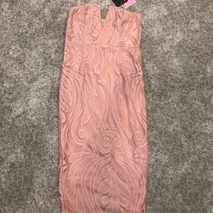 Dusty Pink Mid Length Dress.